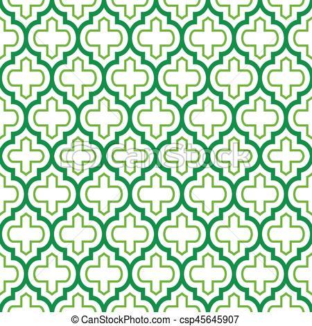 Tiles clipart aqua green Moroccan Geometric green Vector design
