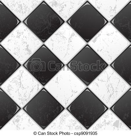Tiles clipart black and white And Clipart EPS 10 tile