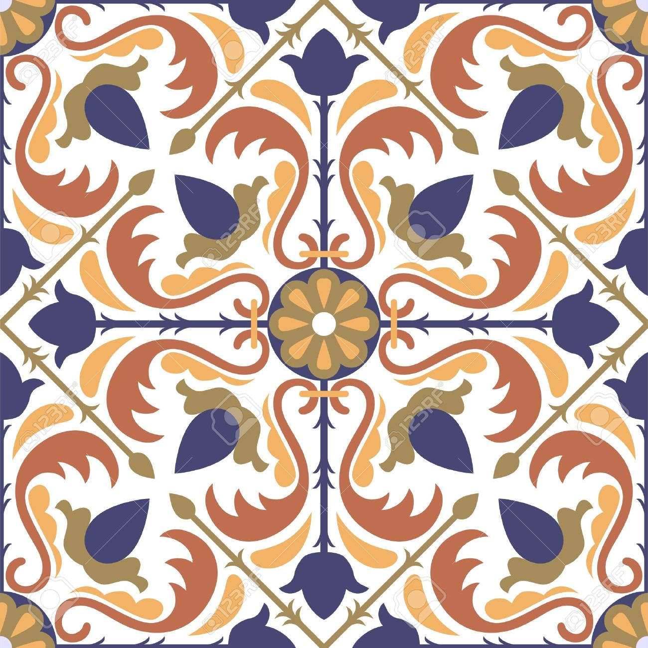 Tiles clipart pattern Free Pattern Seamless Arabic Colorful