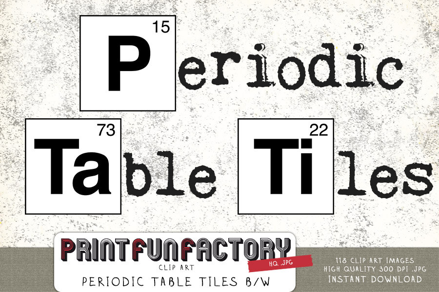 Tiles clipart periodic table DOWNLOAD black table black tiles