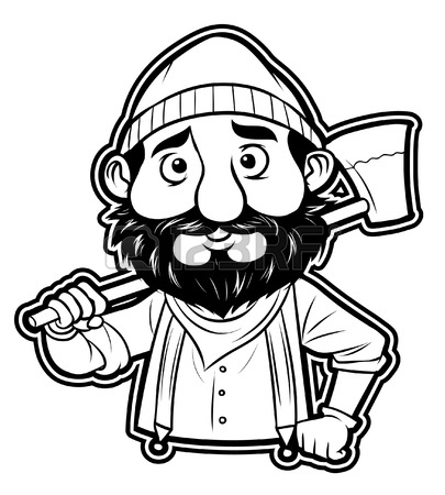 Timber clipart black and white Firefighter White Black Clipart Clipart