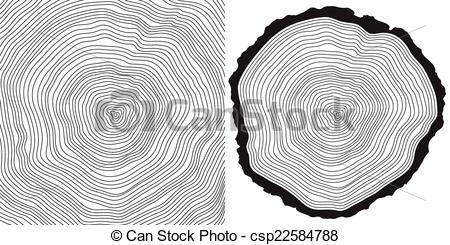 Timber clipart tree ring Rings cut tree vector rings