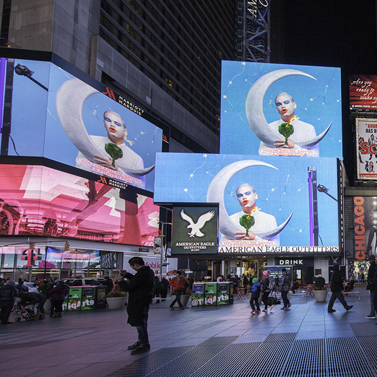 Times Square clipart america Moon Moment Times Square Arts: