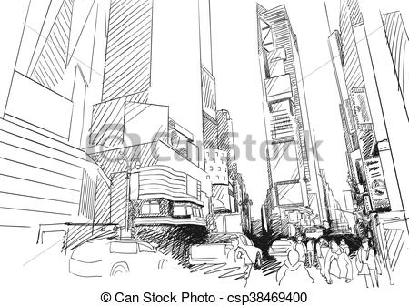 Times Square clipart cartoon Drawn Square Square Time Clipart