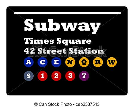 Times Square clipart subway Subway Square Times of Square