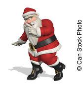 Tiptoe clipart quietly  room  Santa Tiptoe