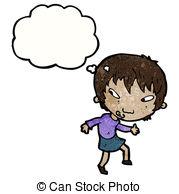 Tiptoe clipart quietly Girl  girl quietly cartoon