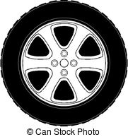 Tire clipart skid marks EPS Stock Clip isolated on
