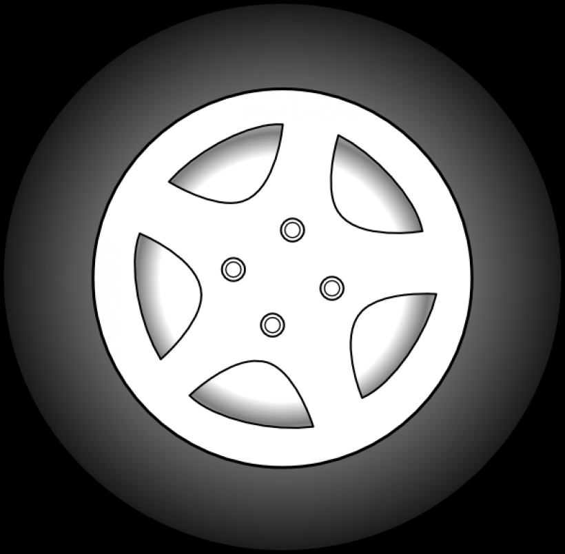 Tire clipart black and white Art PNG clip tire art