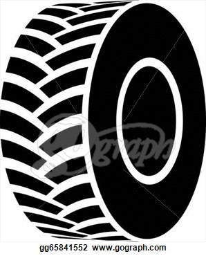 Tire clipart black and white Bay Art White Tire Tracks