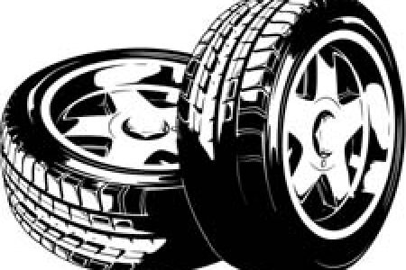 Tire clipart black and white Wheel clipart on Clipart Tire