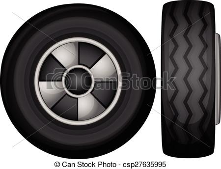 Tire clipart side view Illustration tyres view EPS and