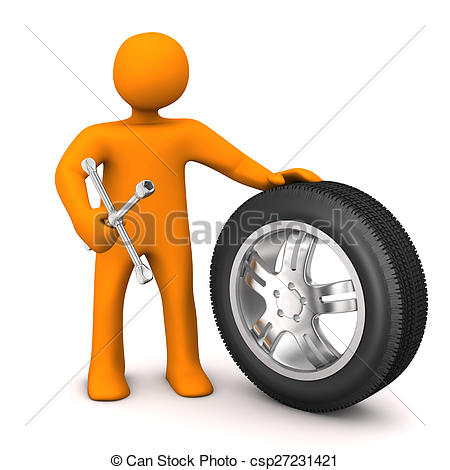Tire clipart tire change Of Orange Clip character Tires