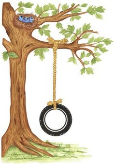 Tire Swing clipart Clipart Tire Tree Swing Tree