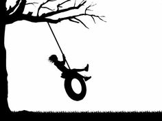 Tire Swing clipart giant Tree room silhouette or swing