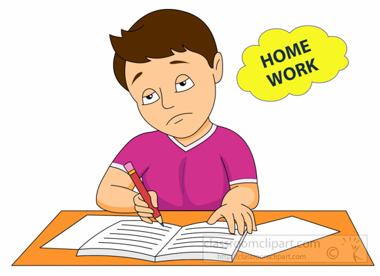 Imagination clipart homework Boy Tired  clipart Search
