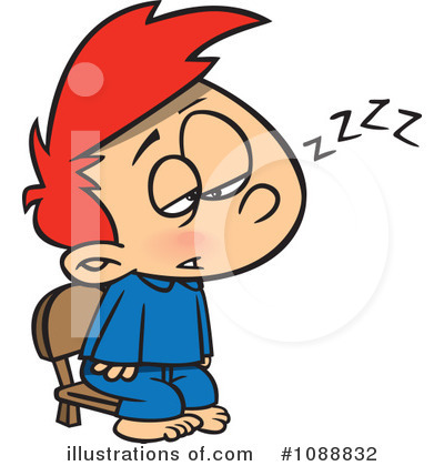 Tired clipart Toonaday Illustration by (RF) by