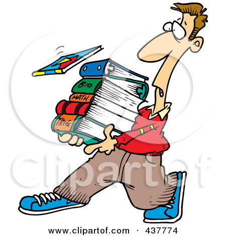 Tired clipart college student #2
