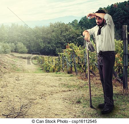 Tired clipart farmer #5