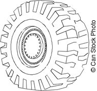 Tire clipart black and white Clipart 136 Clip Car vector