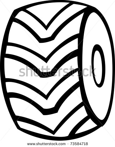 Tire clipart black and white Free Monster Black And