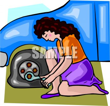 Tire clipart tire change Tire Clipart Flat a Changing
