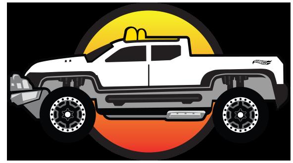 Drawn truck hot wheel car Monster TRUCKS HW Toy &