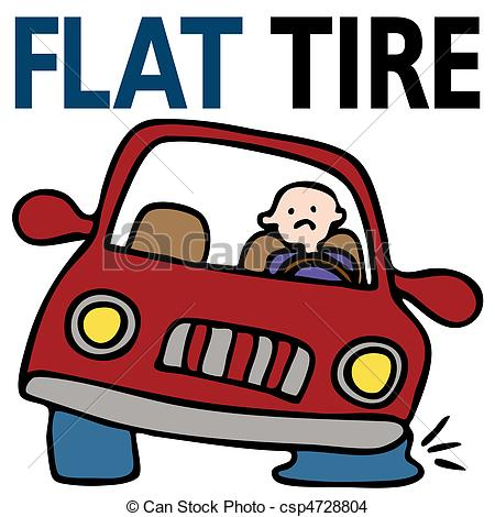 Bike clipart flat tire Tire csp4728804  EPS Illustration