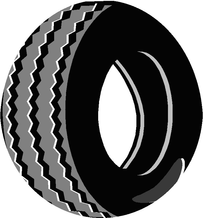 Tire clipart black and white Tire cliparts Clipart Tire Spare