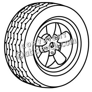 Tire clipart black and white Wheel Panda Free 20clipart Clipart