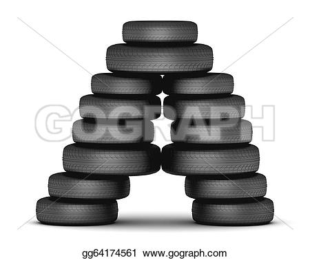 Tires clipart stacked tire Black Letter Clipart tire from
