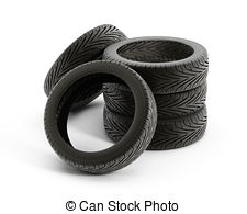 Tires clipart stacked tire White Tire EPS stack tire