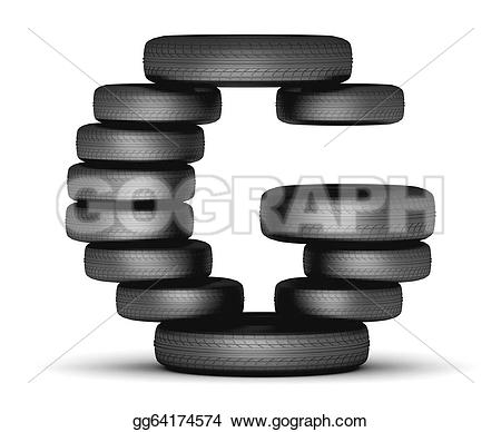 Tires clipart stacked tire G G tire Clip from