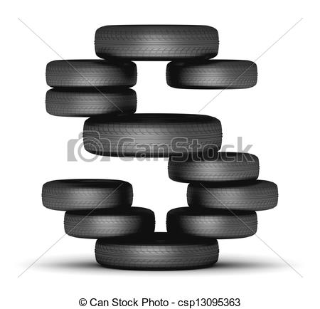 Tires clipart stacked tire Of S tire stacked staked