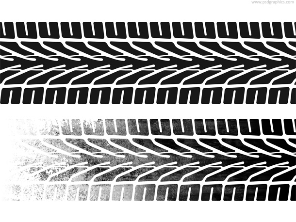 Tires clipart tire marks Seamless Hi Free grungy on