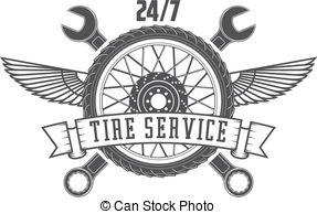 Tires clipart tire shop Logo service Vector Black with