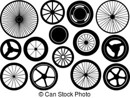 Tires clipart train Of isolated Of set of