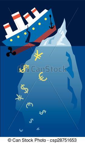 Titanic clipart  212 Titanic iceberg Illustration