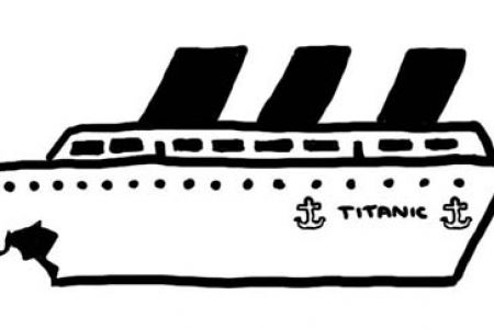 Titanic clipart Titanic Sinking ClipartFest  White