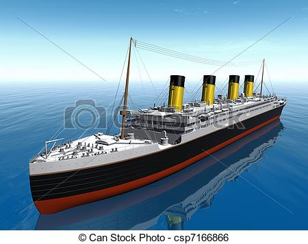 Titanic clipart Stock Titanic ship  Illustration