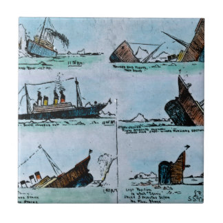 Titanic clipart caravel Titanic Magic Lantern Tile Ceramic