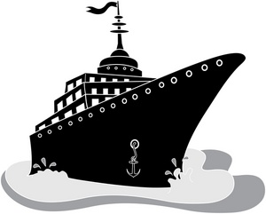 Cruise clipart black and white Clipart ship  clipart kid