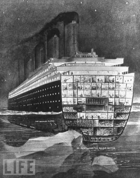 Drawn titanic front Titanic drawing depicting best iceberg