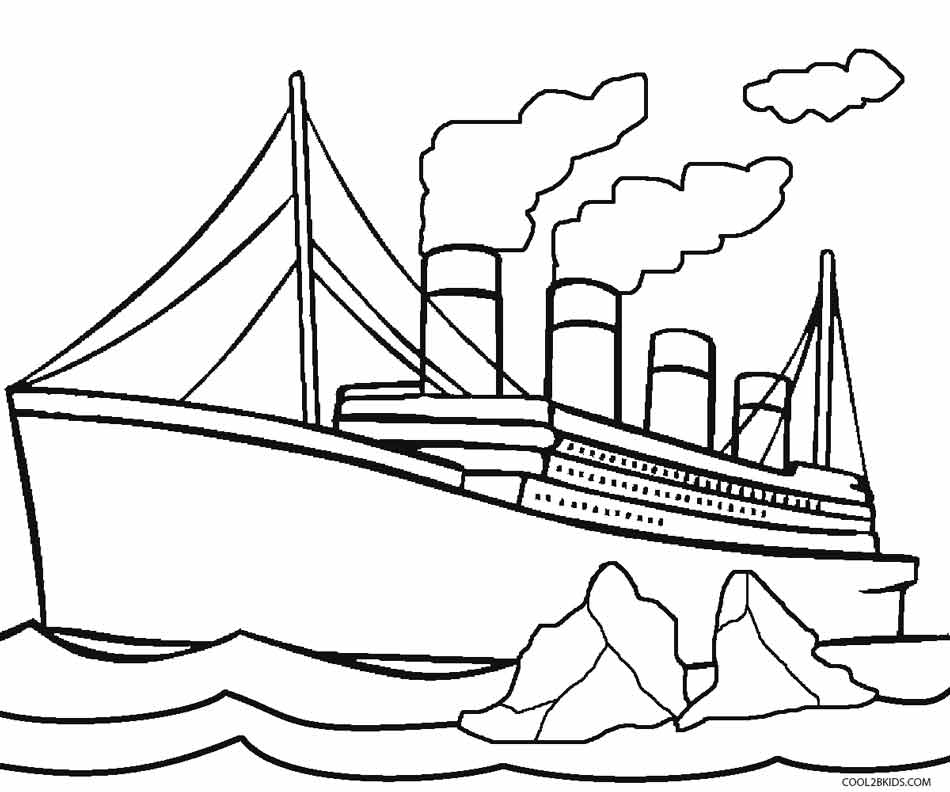 Titanic clipart outline Titanic Kids Coloring For Coloring