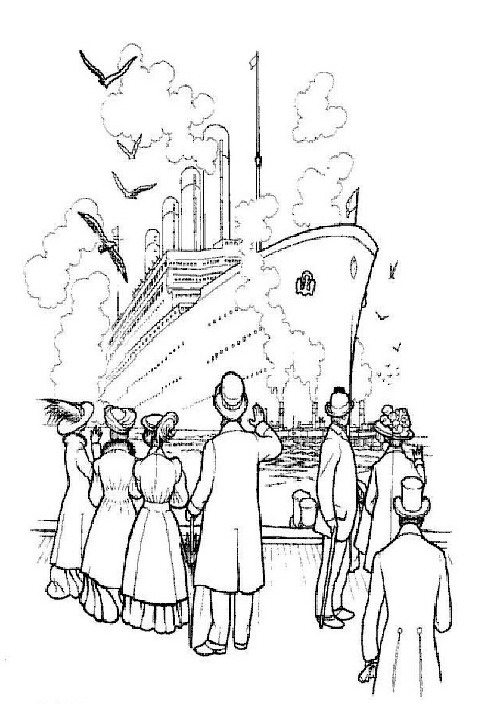 Titanic clipart outline Or page  children this