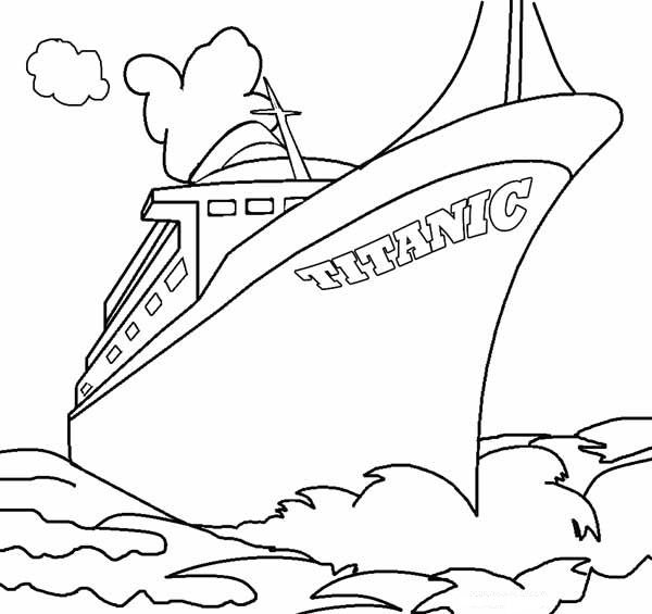 Titanic clipart outline Coloring Coloring Me Pages Titanic