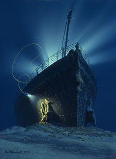 Titanic clipart shipwreck Marschall of and sinking Titanic