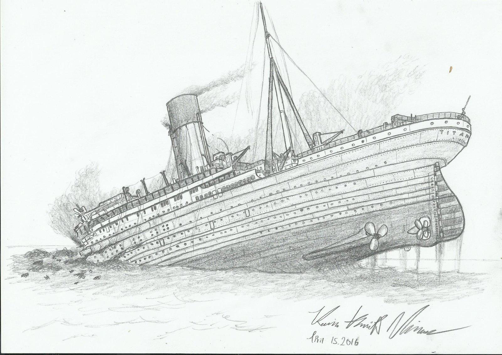 Titanic clipart shipwreck Can clipart Photo Shipwreck Stock