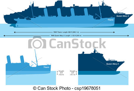 Titanic clipart silhouette Titanic 2 Queen Mary And