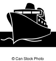Titanic clipart silhouette With isolated Passenger ship clipping;